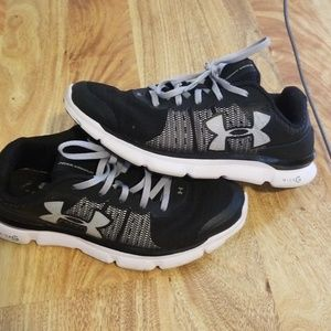 Under Armour black sneakers